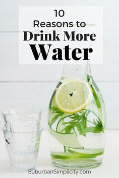 10 Reasons to Drink More Water Every Day.  Plus 5 tips to help you do it! Why not, it can help you lose weight and feel great! #4 was a surprise.