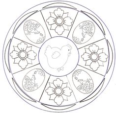 Mandala – Easter | Coloring pages