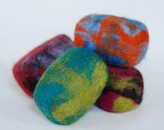 Felt Soap! One-of-Each Felt Soap Trio: Lavender, Aloe and Green Tea - $21 on Etsy
