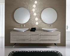 AMBIENT offers the latest collections of modern kitchens, bathrooms, closets and interior doors. Modern House Design, Contemporary Design, Modular Design, Bath Design, Bathroom Furniture, Modern Bathroom, Home, Bath Room, Mirrors