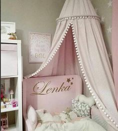 Cheap Mosquito Net, Buy Directly from China Suppliers:Cotton baby room decoration Balls Mosquito Net Kids bed curtain canopy Round Crib Netting tent photography props baldachin Baby Bed Canopy, Princess Canopy Bed, Kids Canopy, Bed Canopies, Canopy Bedroom, Princess Room, Princess Castle, Crib Bedding, Pom Poms