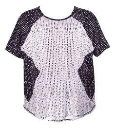 WORTHINGTON 0X, 1X, 2X Black & White Diamond Print Short Sleeve Top Blouse-NWOT #Worthington#Womens#PlusSize