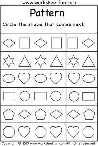 color by number shapes circle triangle square rectangle one worksheet preschool. Black Bedroom Furniture Sets. Home Design Ideas