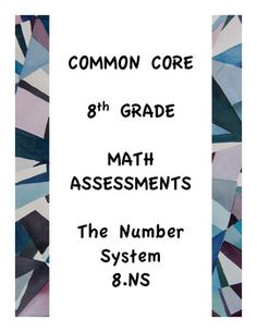 Great Assessment for Common Core 8th Math Freebie