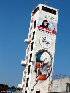 Artist :Zed1 New Mural For DayOne Festival - Roeselare, Belgium