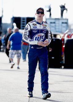 Brad Keselowski during 2013 #GEICO400 practice. #NASCAR