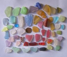 SCOTTISH SEA GLASS BEACH FINDS 50 various GLASS PCS - rough