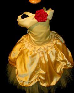 Vestido de lujo de chicas amarillo princesa Tutu por por DressNup