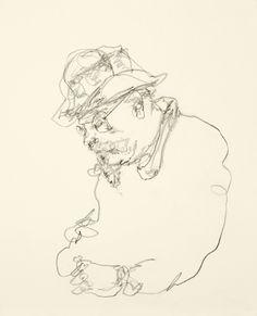 gotta love a good gestural drawing!    1 subway train. Gregory Muenzen