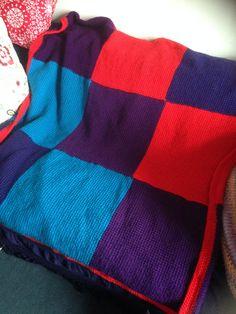 I made. Tunisian crochet blanket big enough for a throw on my 2 seater sofa Tunisian Crochet Blanket, 2 Seater Sofa, Big