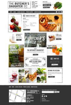 The Butchers Daughter - Juice Bar and Cafe - html5, Responsive Design, jQuery, Inspiration, Website, Food, Platform, Drink