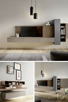 Modern and classic living Wardrobe Furniture, Condo Furniture, Living Room Interior, Living Room Furniture, Living Room Decor, Furniture Design, Living Area, Tv Cabinet Design, Tv Wall Design