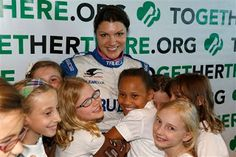 Indianapolis 500 driver Katherine Legge attributes much of her success to the confidence and character she developed while growing up in the United Kingdom as a Girl Guide, part of a sister organization to Girl Scouts.