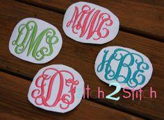 Intertwined Vine Interlocking Monogram Embroidery Font