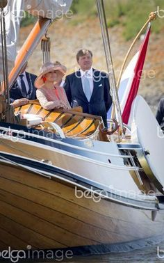 King Willem-Alexander, Harlingen, 13-06-2016  King Willem-Alexander and Queen Maxima visit Noord-West Friesland  Ship Tpur   COPYRIGHT:ROYALPORTRAITS EUROPE/BERNARD RUEBSAMEN       ( DANA-No: 01529810 )