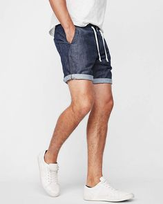 Express offers a variety of men's shorts! Shop our collection of slim shorts, cargo shorts, drawstring, khaki shorts and jean shorts for men. Mens Drawstring Shorts, Mens Fashion, Fashion Outfits, Men's Outfits, Gentleman Style, Summer Shorts, Boy Shorts, Short Outfits, Cotton Linen