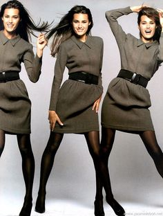 Yasmin Le Bon 1987 | Yasmin Le Bon Renee Simonsen Stephanie Seymour Vogue Italia Magazine ...