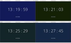 Created by Berlin-based artist and designer James E. Murphy, What Color Is It is a website that translates the current time (based on a 24-hour clock) into a corresponding hex color value. The color of the page changes gradually as each second ticks by. This could be a great start to a watch face