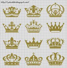 crown free cross stitch pattern http://yohoshhh.blogspot.com/2012/09/korona.html