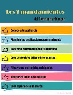 Los 7 mandamientos del #CommunityManager by @chris_suta #SocialMedia