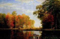 """""""All Nature Here is New to Art"""" American Scenery and the Hudson River School Oil Painting For Sale, Paintings For Sale, Oil Paintings, Painting Art, Painting Clouds, Albert Bierstadt Paintings, Beautiful Landscape Paintings, Hudson River School, All Nature"""