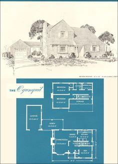 1945 Ogunquit - New Era Houses - Brown-Blodgett Co. - Houses from Plan Books - Colonial Modern Style
