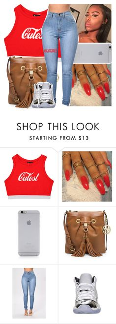 """12:24am"" by lamamig ❤ liked on Polyvore featuring Native Union, MICHAEL Michael Kors and Retrò"