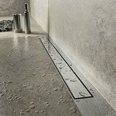 Smooth Surface Flat Stainless Steel Long Shower Channel Drain Cover, Tile Insert Linear Shower Drain With Hair Filter for Bathroom Shower Drain, Steam Showers Bathroom, Bathroom Faucets, Shower Floor, Bathroom Cabinets, Bathroom Mirrors, Sinks, Glass Showers, Bathroom Photos