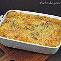 Parmentier de poulet aux poires et au roquefort - Péché de gourmandise