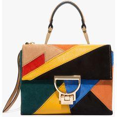 Arlettis suede mini bag ($325) ❤ liked on Polyvore featuring bags, handbags, suede handbags, suede leather bag, miniature purse, miniature handbags and suede purse