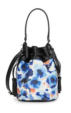 Loeffler Randall   Artistic Print Leather Bucket Bag   SAKS OFF 5TH