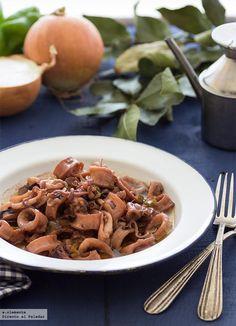 Cocina – Recetas y Consejos Spanish Tapas, Spanish Food, Spanish Recipes, Fish Recipes, Mexican Food Recipes, Calamari, Fish And Seafood, Recipe Collection, Stew