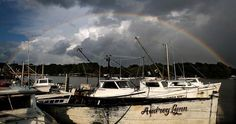 After thunderstorms rolled through the area Saturday a rainbow appears over Deep Creek in Newport News. The Virginian, Newport News, Hampton Roads, Chesapeake Bay, Thunderstorms, The Hamptons, Rainbow, Weather
