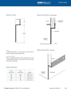 Reveal Base Example Technical Drawing
