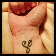 """My wrist tattoo......Zibu symbol for """"self care"""""""