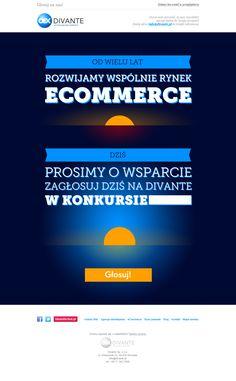 Projekt newslettera przygotowany dla firmy Divante, zachęcający do wzięcia udziału w głosowaniu. #newsletter #ecommerce #divante