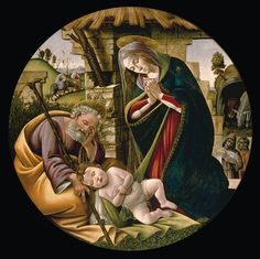 Botticelli. Боттичелли. Поклонение младенцу Христу. 1500 Музей изящных искусств, Хьюстон.