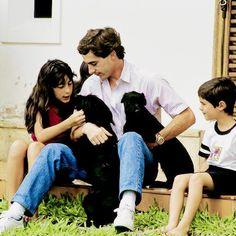 Ayrton with his niece Bianca, his nephew Bruno in Sao Paulo, 1989