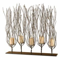 These stylish candlestick holders feature a distinctive design to create a more dramatic look. Perfect for creating a more stylish table setting or atmosphere, these eye-catching candlestick holders are a great decorative or accent item.