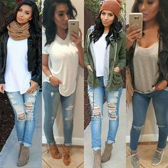 #casual #outfit #ideas for #superbowl Sunday ☺ I'll be posting more looks later which one is your style?