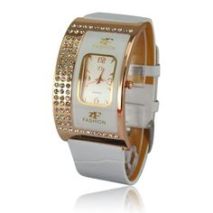 This wrist watch is fashionable and elegant in style which is specially designed for girls or ladies. Apart from acting as a watch to advise you the correct time, it is also a wonderful and beautiful decoration to make you more fashionable and attractive. In addition, it's designed with rhineston...
