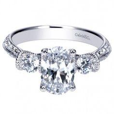 #Antique Three-Stone #Diamond Engagement Ring available at #emmaparkerandco