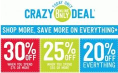 30% Off Entire Crazy 8 Children's Clothing Purchase – Great Back to School Deals!
