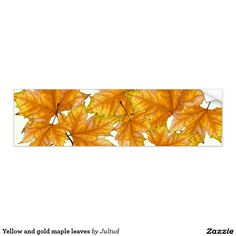 Yellow and gold maple leaves bumper sticker