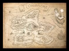 Old Numenore Map by amegusa.deviantart.com on @deviantART