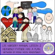 LDS Nursery Manual Lesson 2: Heavenly Father Has a Plan for Me by risingmoonadventures on Etsy