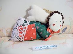 Vintage Cloth Angel Christmas Ornament by ALEXLITTLETHINGS on Etsy