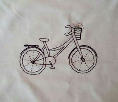 Hand-Embroidered bicycle