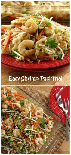 This super easy Shrimp Pad Thai recipe is ready in under 30 minutes! Forget takeout!