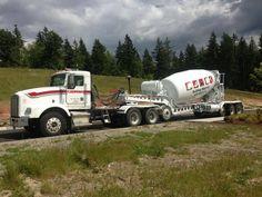 Big load of Concrete Dump Trucks, Cool Trucks, Big Trucks, Heavy Duty Trucks, Heavy Truck, Huge Truck, Cement Mixer Truck, Truck Mechanic, Custom Trailers